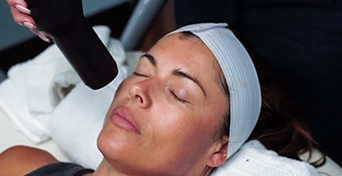 Cryotherapy Facial given to a women at US Cryotherapy